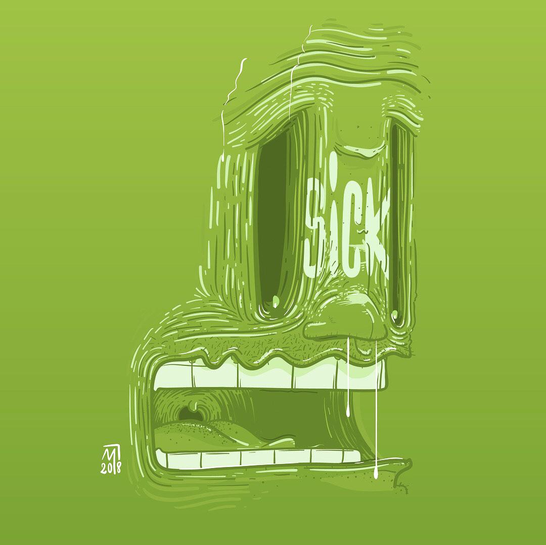 minastrie illustration visage sick