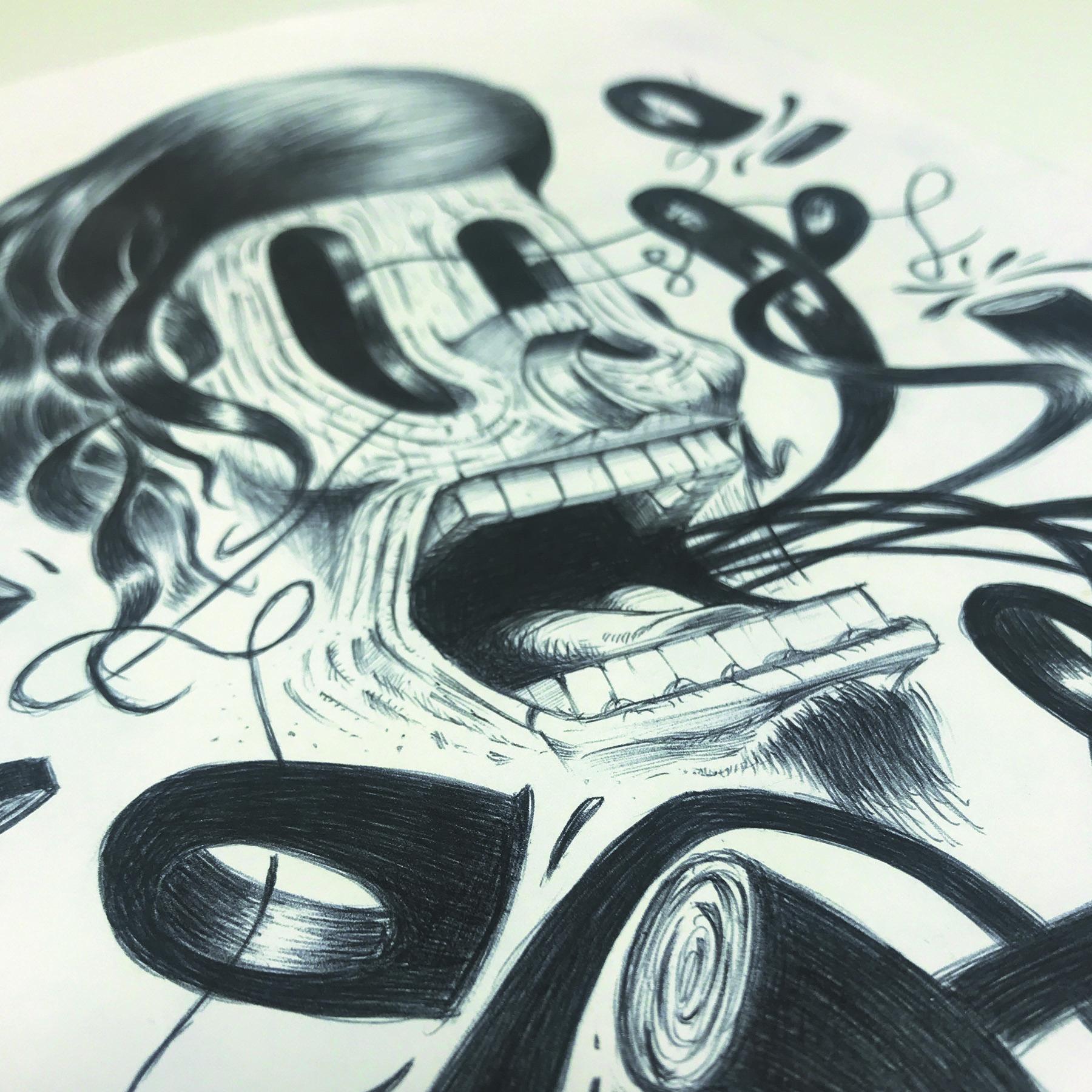 illustration minastrie visage bois