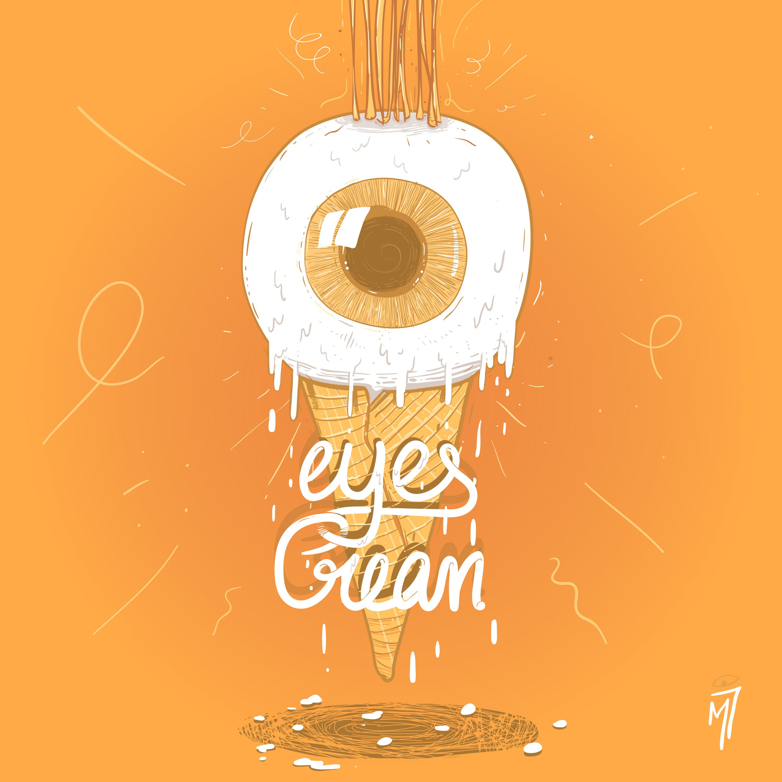 minastrie eyes cream illustration