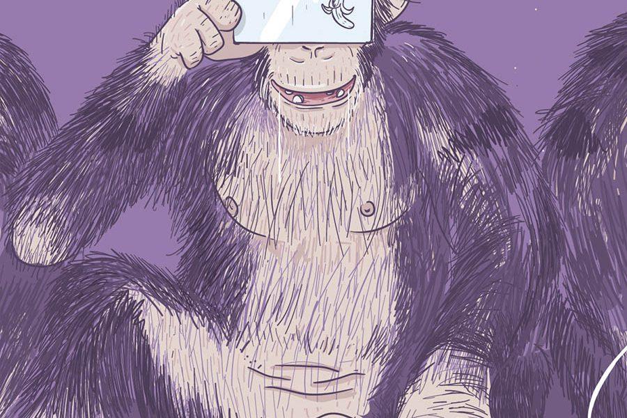 minastrie singe illustration