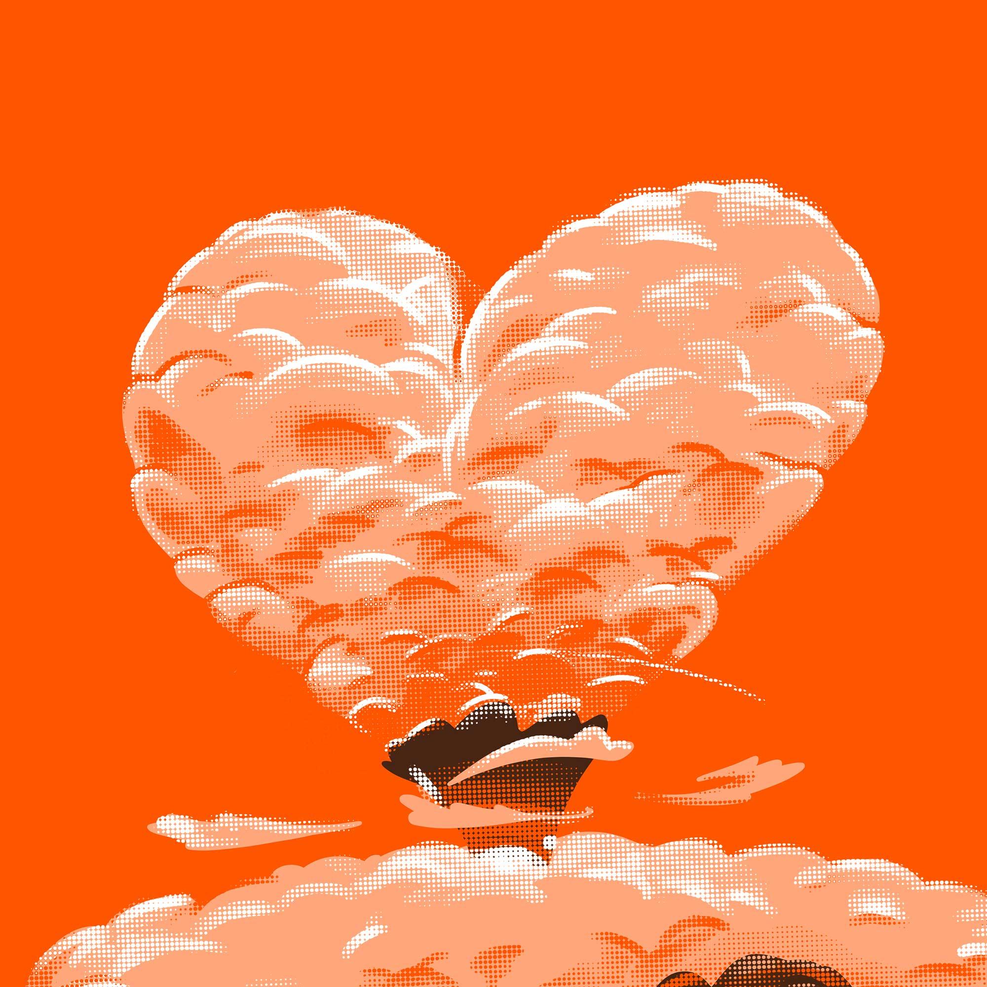 illustration coeur ombre nucléaire d'amour minastrie